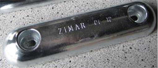 Picture of CL-12 Bolt On Drilled Plate Zinc