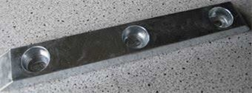 Picture of K-15HD Bolt On Drilled Plate Zinc