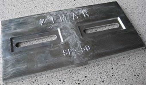 Picture of SP-50 Divers Plate Bolt On Drilled Plate Zinc