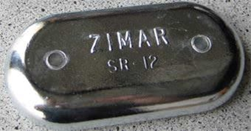 Picture of SR-12 Bolt On Drilled Plate Zinc