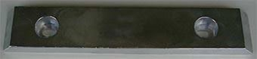 Picture of UM-12 Bolt On Drilled Plate Zinc