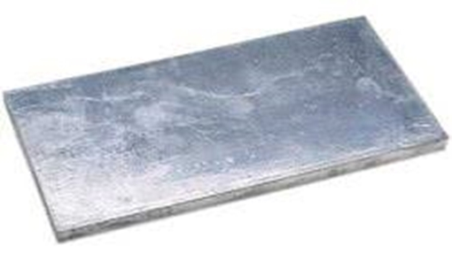 Picture of A-2X12 Bolt On Undrilled Plate Zinc