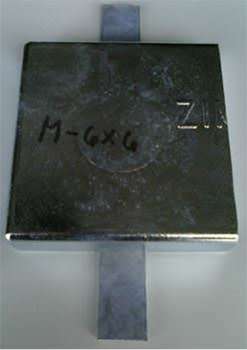 Picture of M-6X6 Weld On Plate Zinc