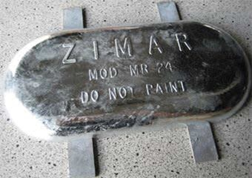 Picture of MR-24 Weld On Plate Zinc