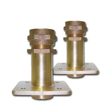 Picture for category Outside Mount Square Flange Bronze Rudder Ports