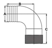 Picture of 00HN100E 90 Degree Bronze Pipe to Hose Adapters