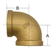 Picture of 00101050 90 Degree Bronze Elbows