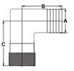 Picture of 60TLS54 90 Degree Tuff-Lite Nylon Elbows (Combo)