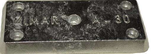 Picture of A-30 Bolt On Drilled Plate Zinc