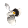 stainless steel propeller for TOHATSU/NISSAN/MERCURY 9.9-20HP 10