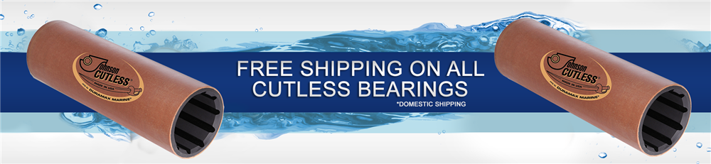 free shipping on non metallic cutlass bearings
