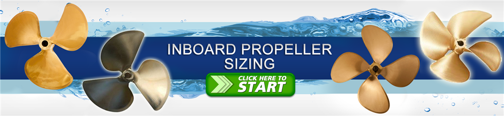 inboard boat prop sizing application